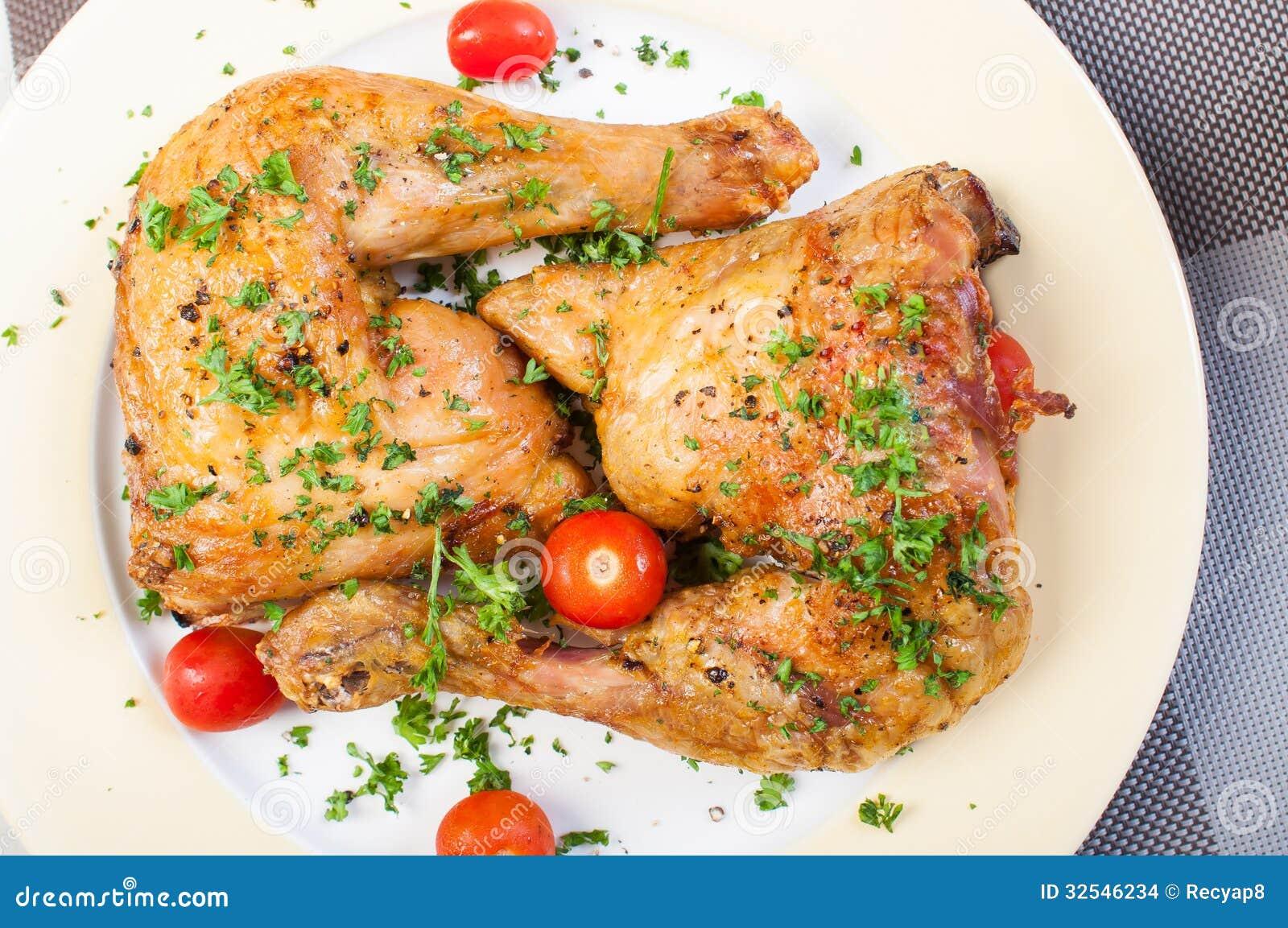 Crispy Roasted Chicken Quarter Stock Images - Image: 32546234
