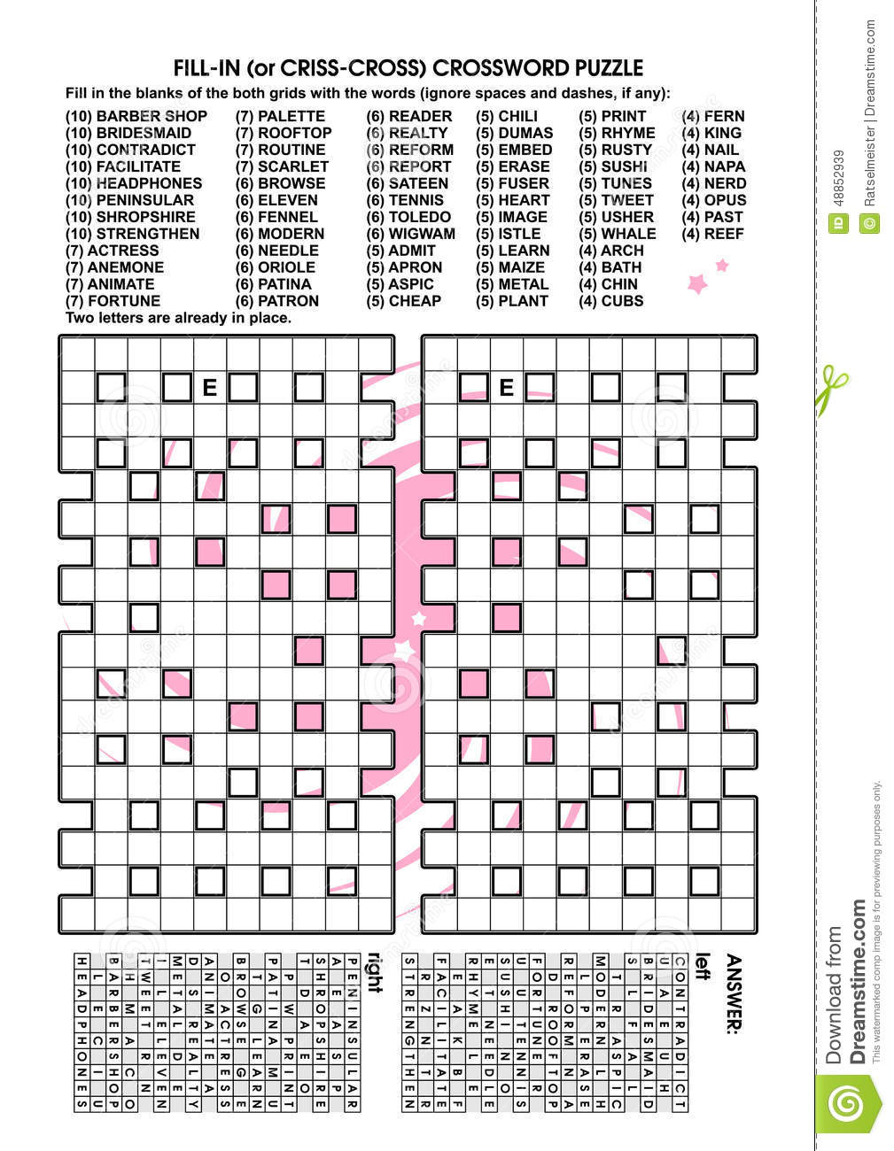 Challenge your mind with this criss-cross word puzzle - fill in the ...
