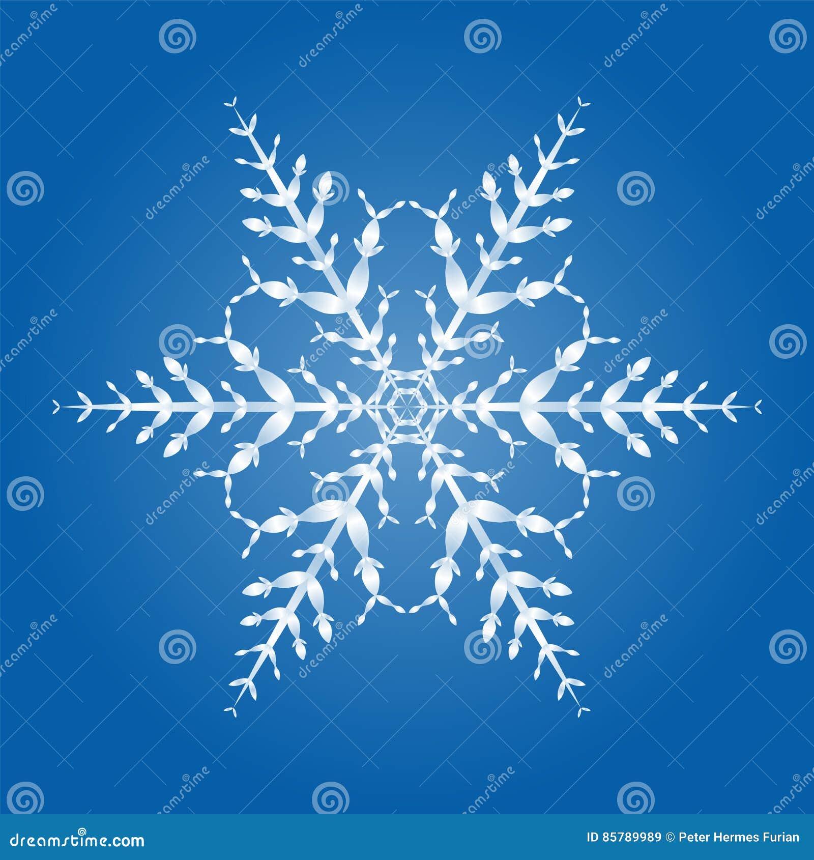Cristal de la escama de la nieve solo