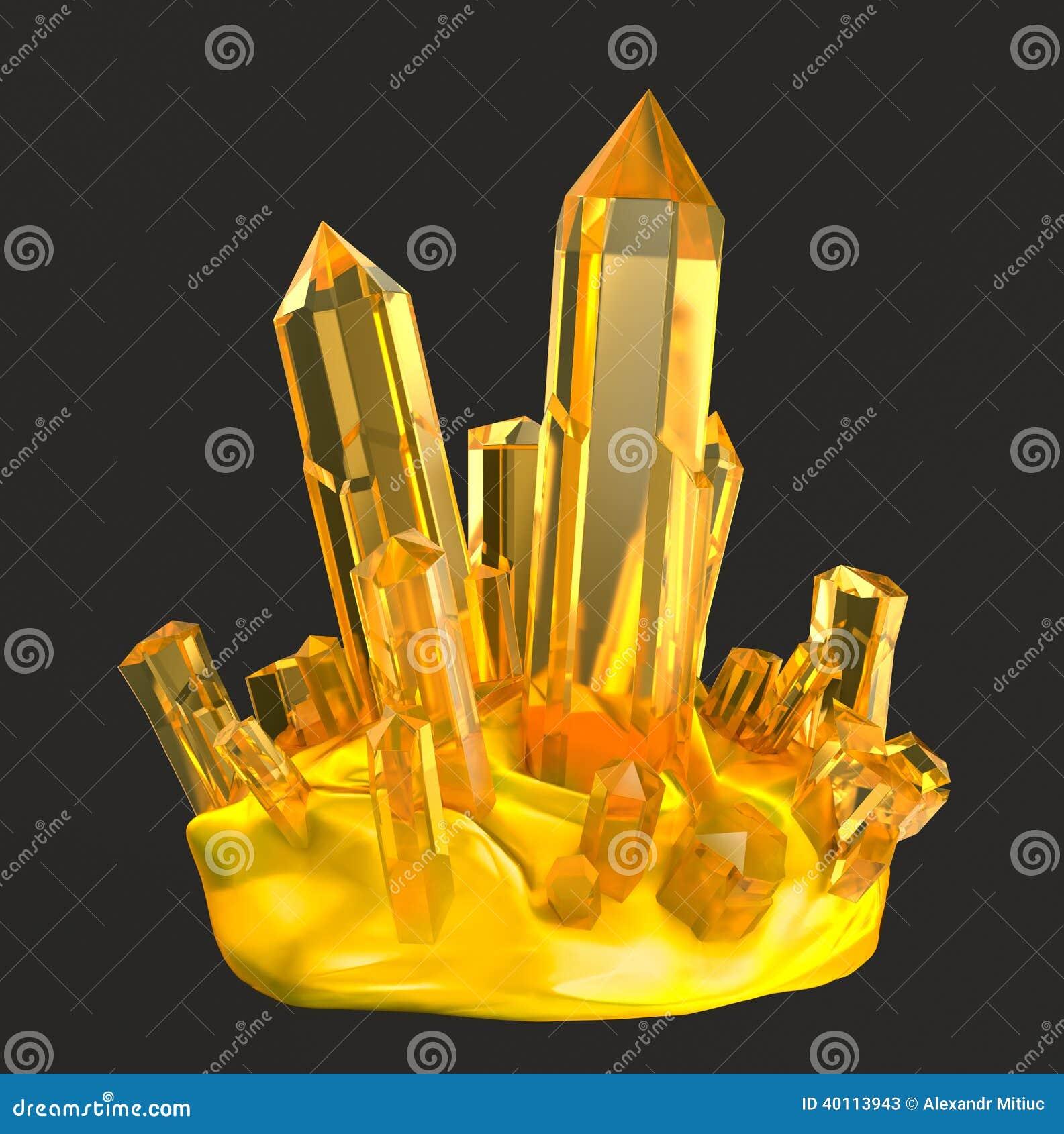 Cristales de oro