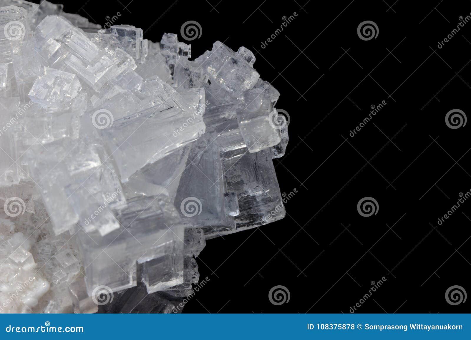 Cristales del blanco de la sal