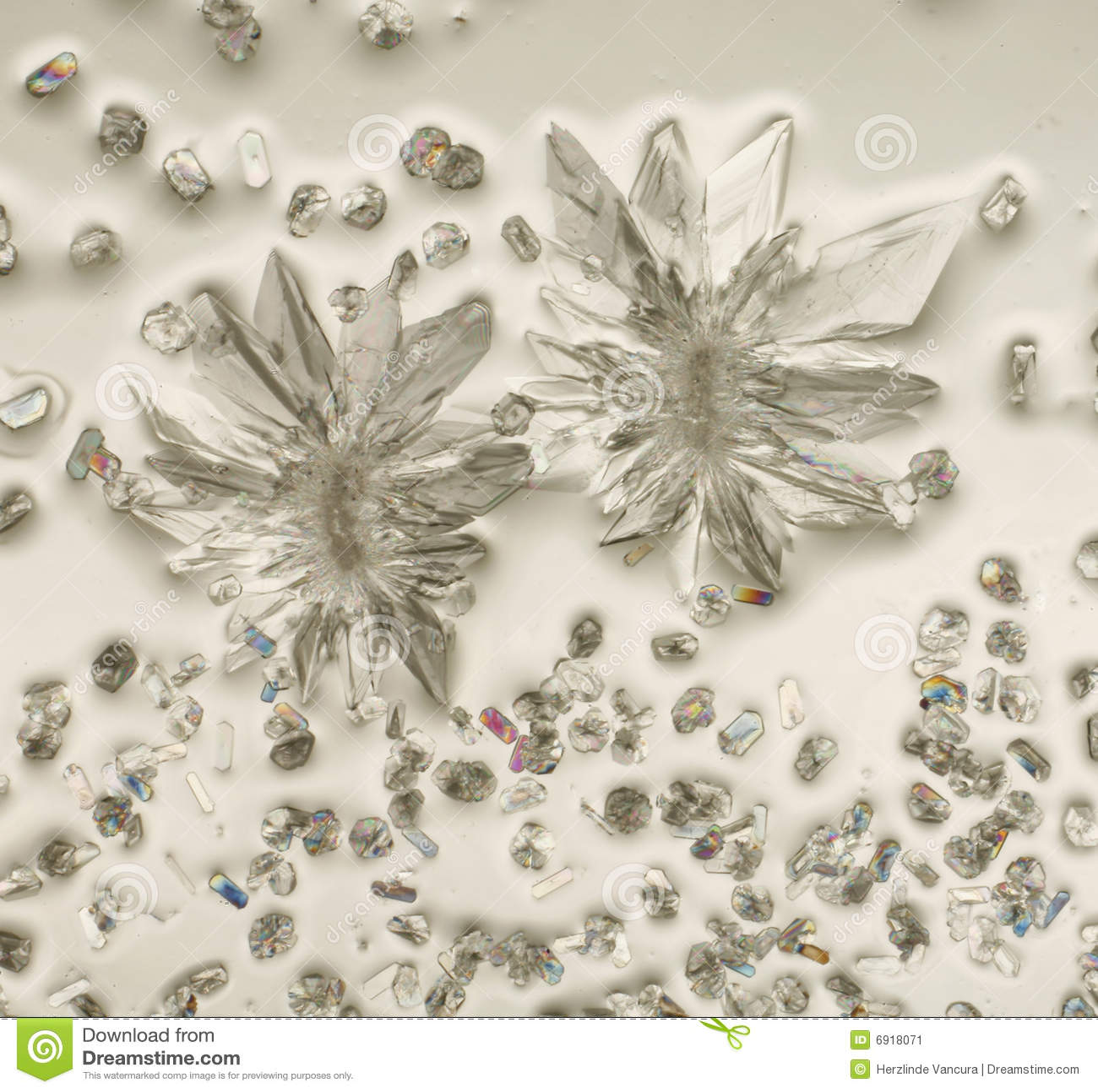 Cristales en luz polarizada