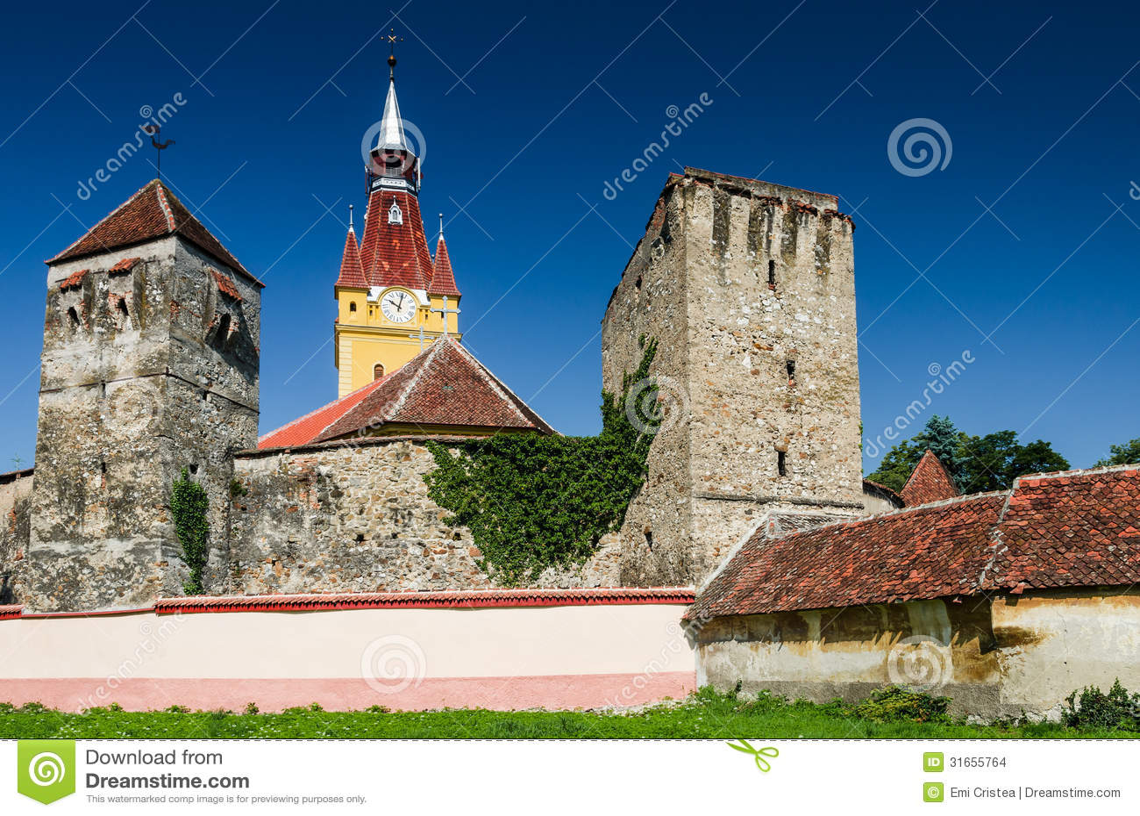 Cristian fortified saxon church transylvania romania stock images image 31655764 - Saxon style houses in transylvania ...