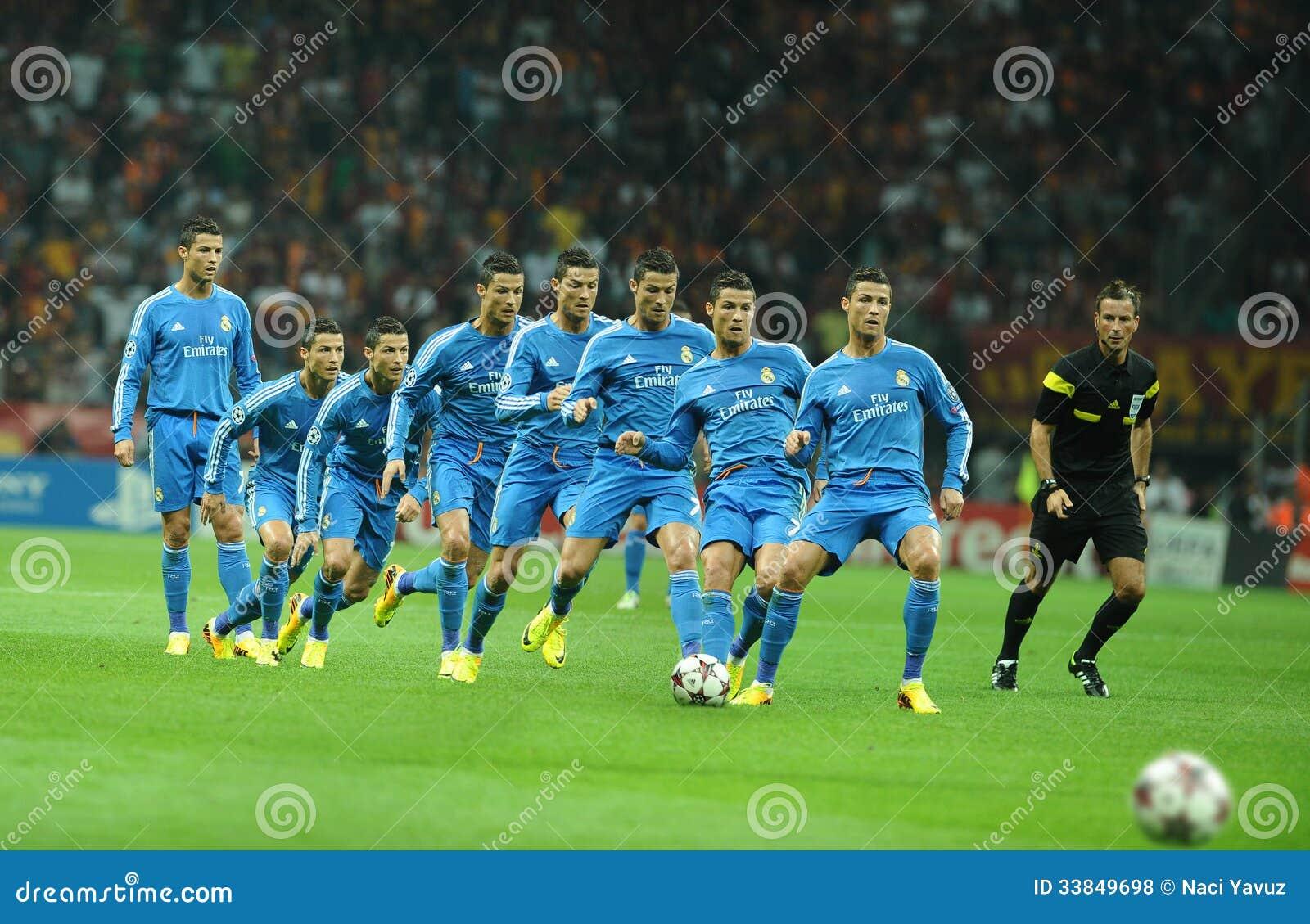 Cristiano Ronaldo Kick Ball Stock Images Download 107 Royalty Free