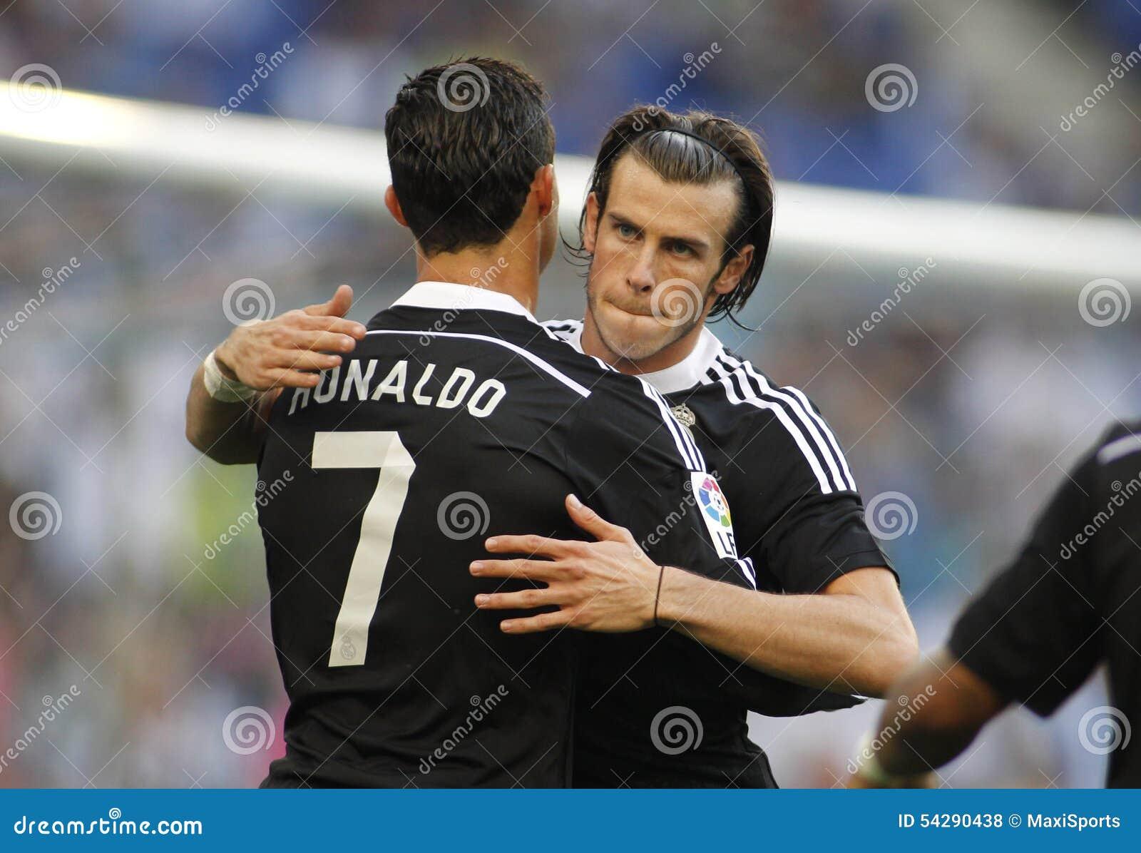 Cristiano Ronaldo and Gareth Bale of Real Madrid