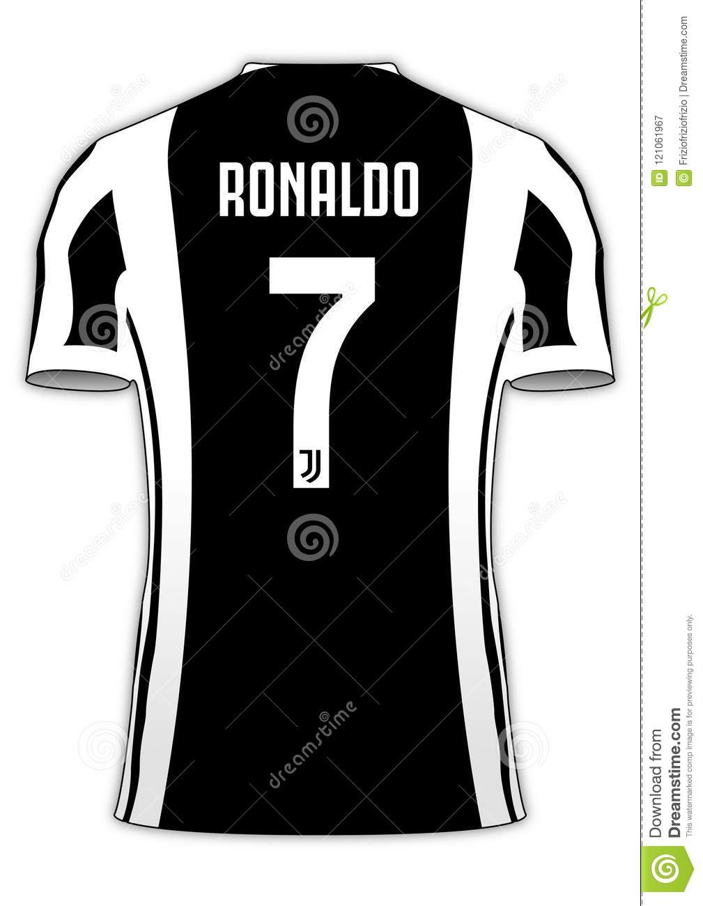 08e152ad8d9 Cristiano Ronaldo Juventus Football Team Jersey Number 7 Editorial ...