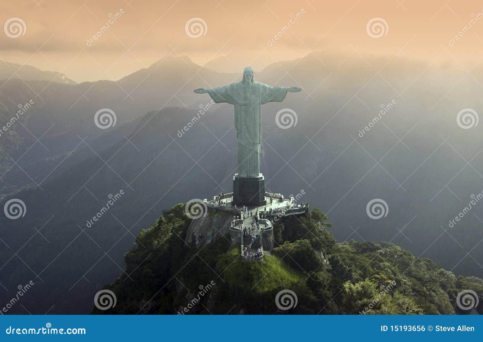 Cristo el redentor en Rio de Janeiro - el Brasil
