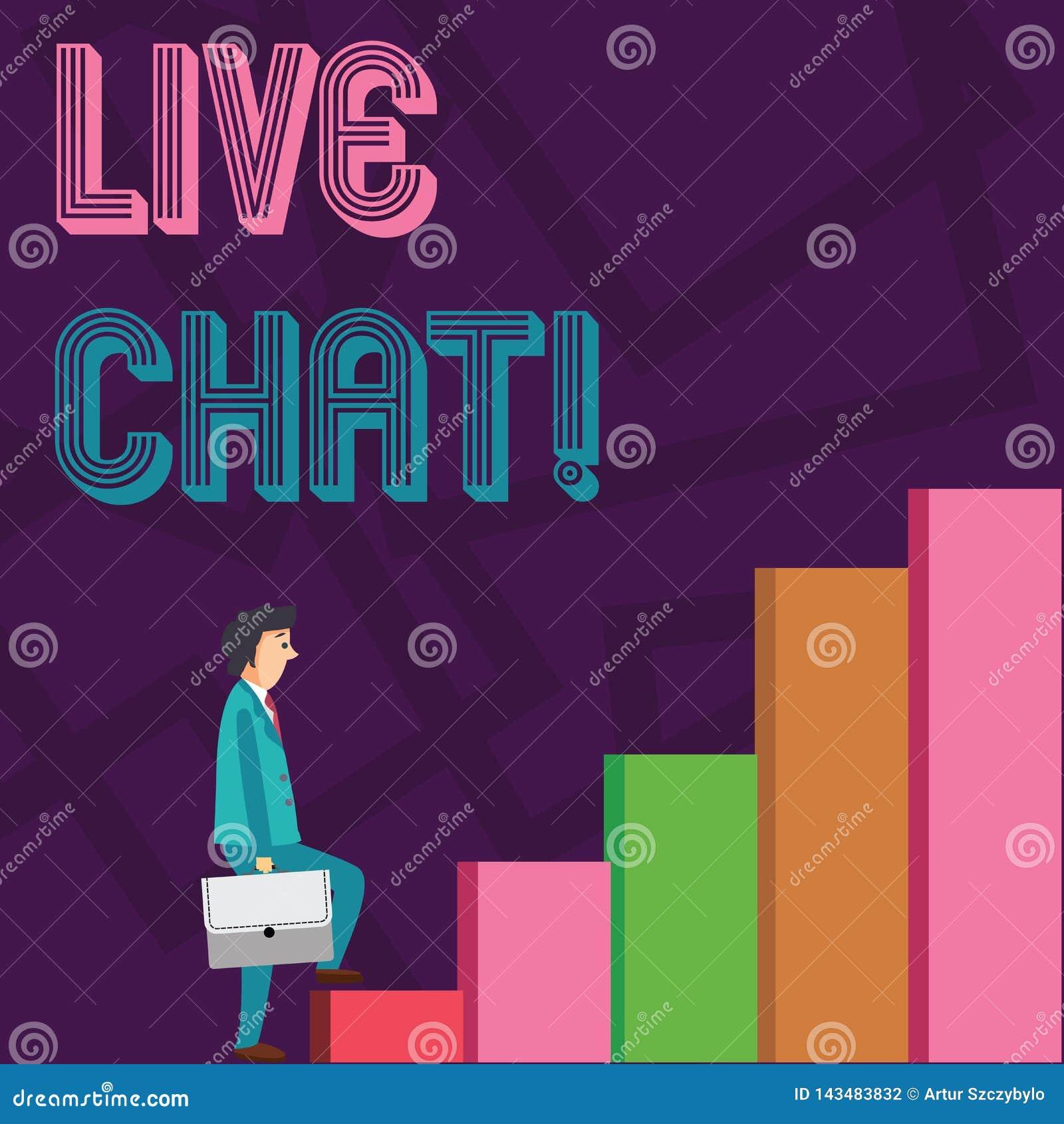 ?criture conceptuelle de main montrant Live Chat Service Web de pr?sentation de photo d affaires au lequel permet des entreprises