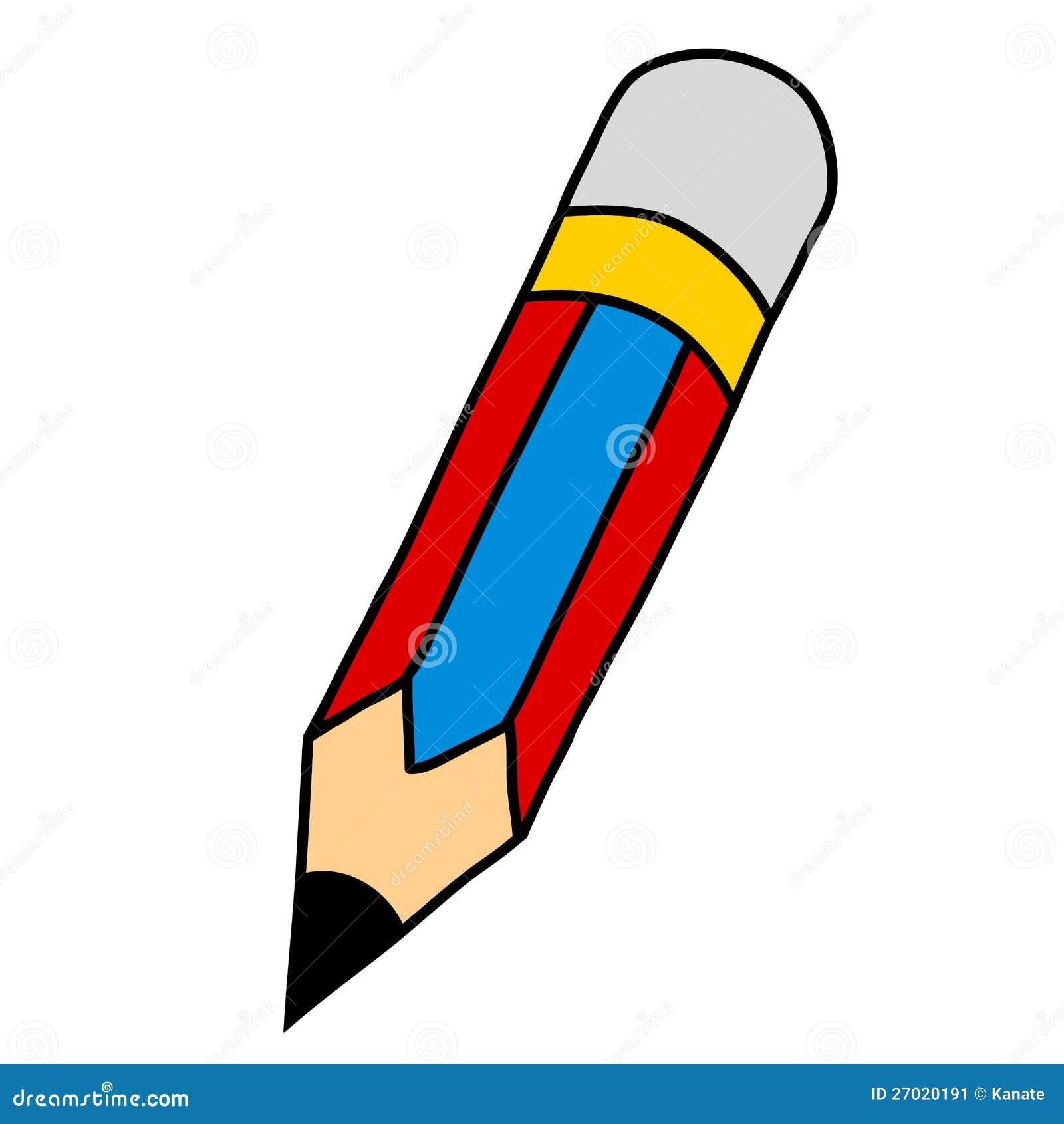 Criture de main de crayon de dessin anim image stock - Main dessin crayon ...