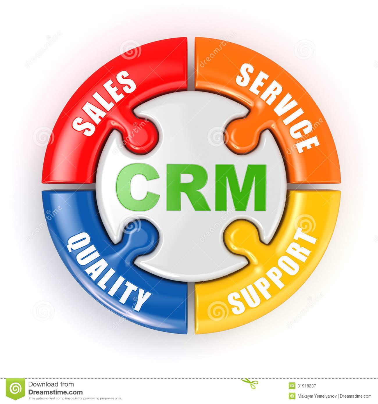 CRM. Customer Relationship Marketing Concept. Stock Illustration ...