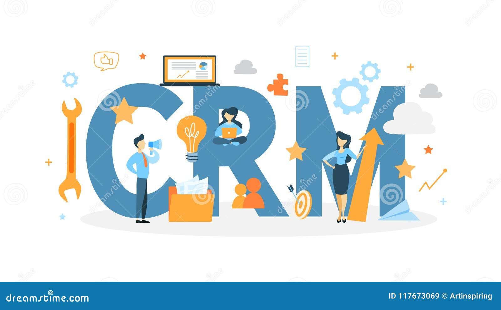 Crm-Konzept-Illustration