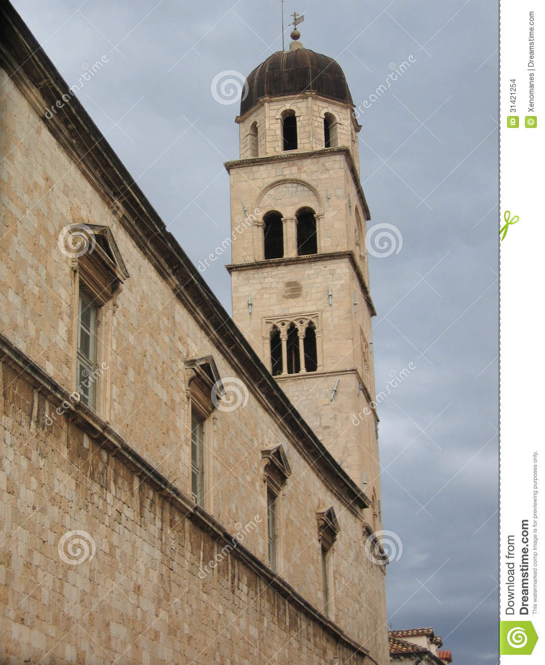 Croatia dubrovnik franciscan monastery tower unesco 39 s - The house in the old franciscan tower ...