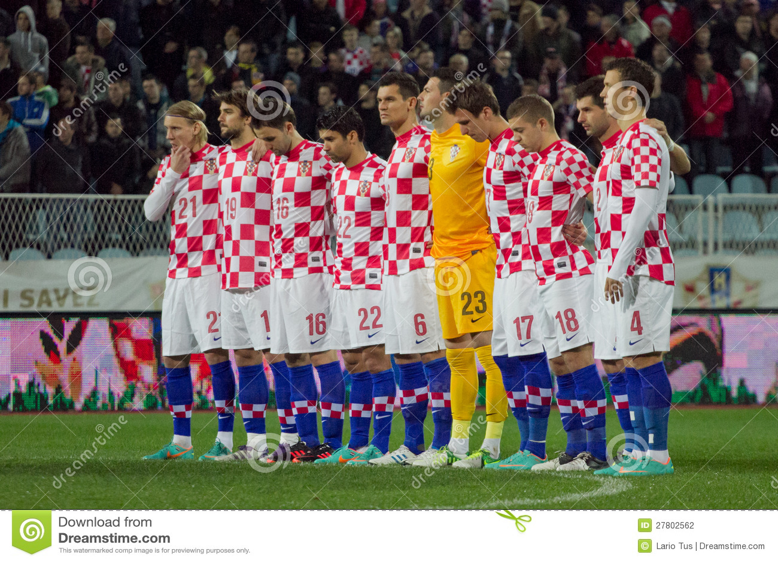 5d27786e8 RIJEKA, CROATIA - NOV, 14: soccer match between Croatia national football  team and Selection of HNL on Novemeber 14, 2012 in Rijeka, Croatia