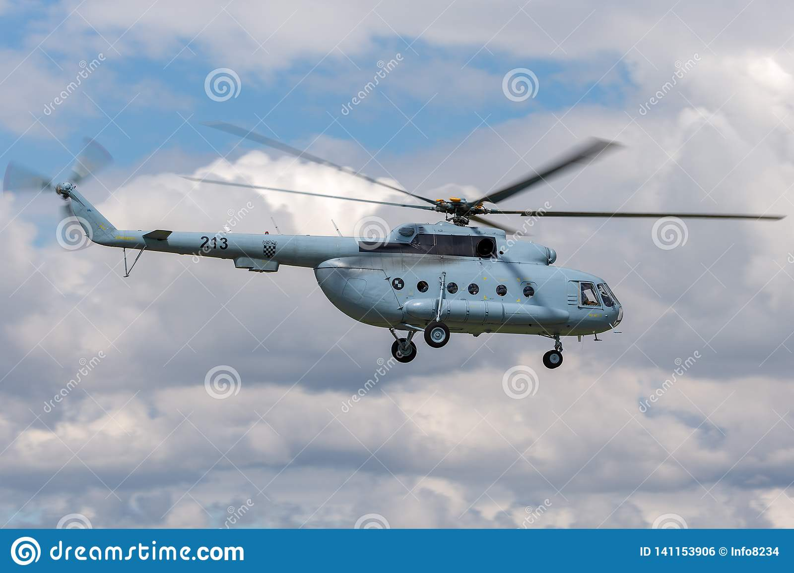 Croatian Air Force and Air Defence Mil Mi-8 Military helicopter