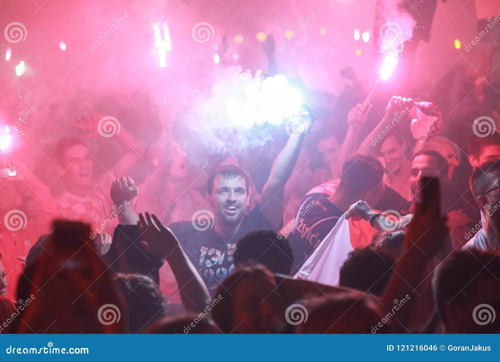 Croatian fans editorial photo  Image of croatia, people