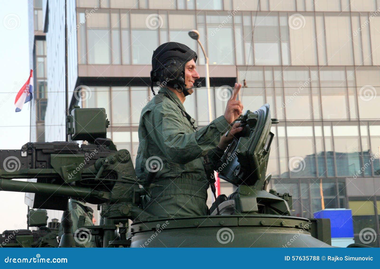 Croatian military parade, Zagreb 2015.