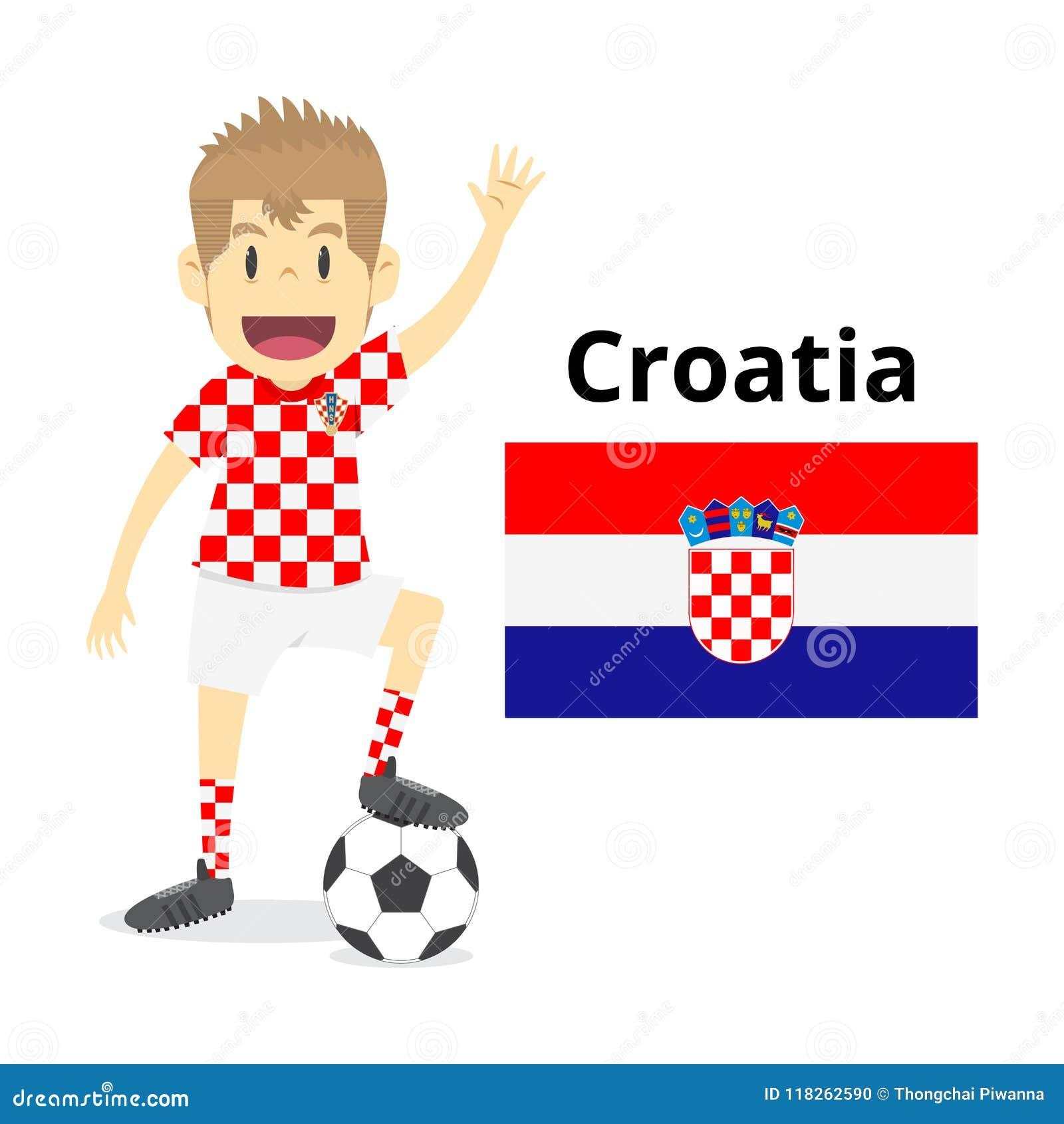 Croatian national team cartoon ca429eec8