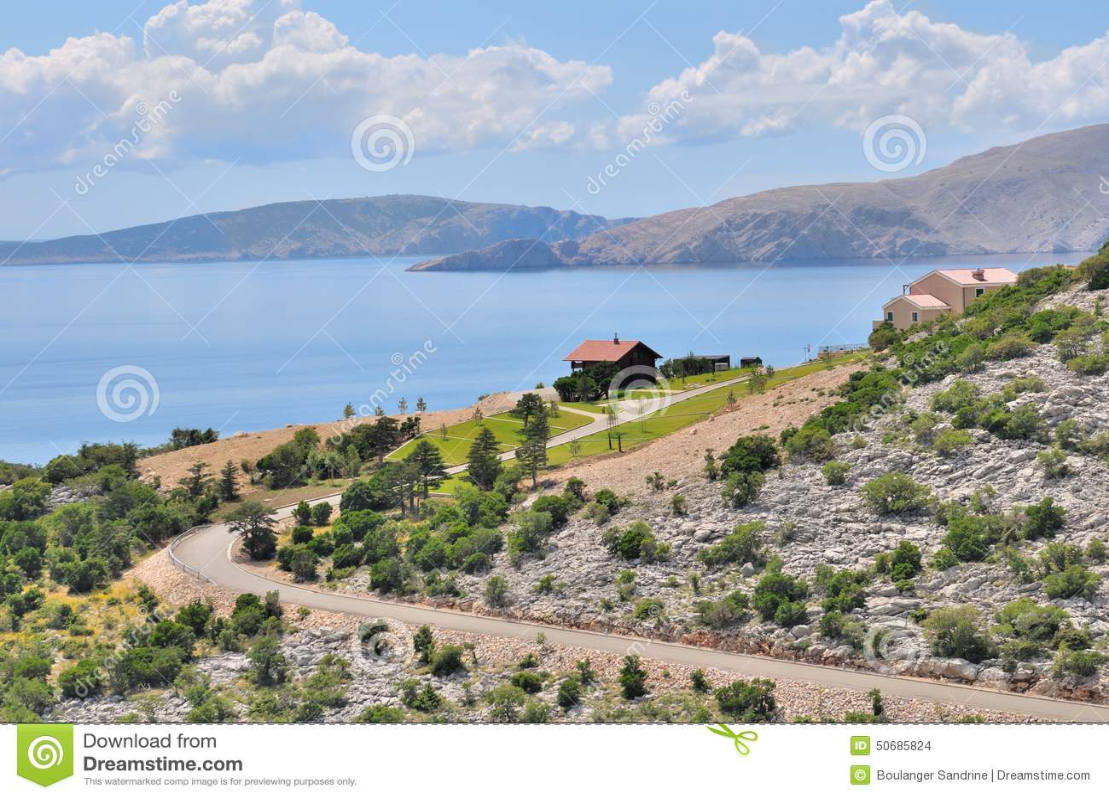 Download Croatie沿海风景 库存照片. 图片 包括有 克罗地亚, 假期, 岩石, beauvoir, 旅游业 - 50685824