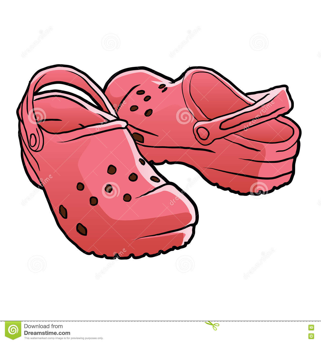 how to draw a croc shoe
