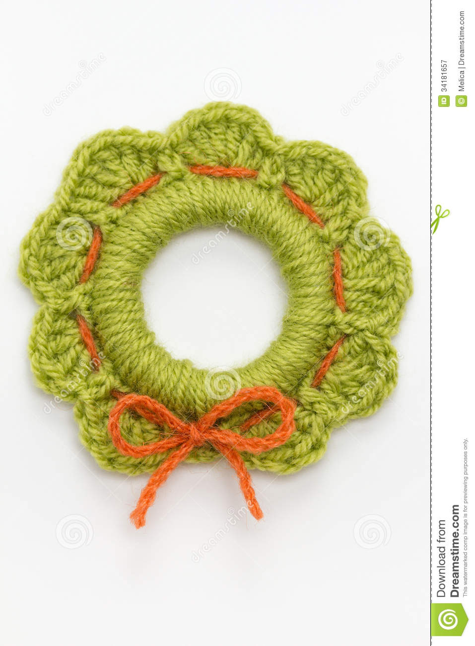 Crochet Christmas Decoration Stock Image Image Of Crafts Backdrop