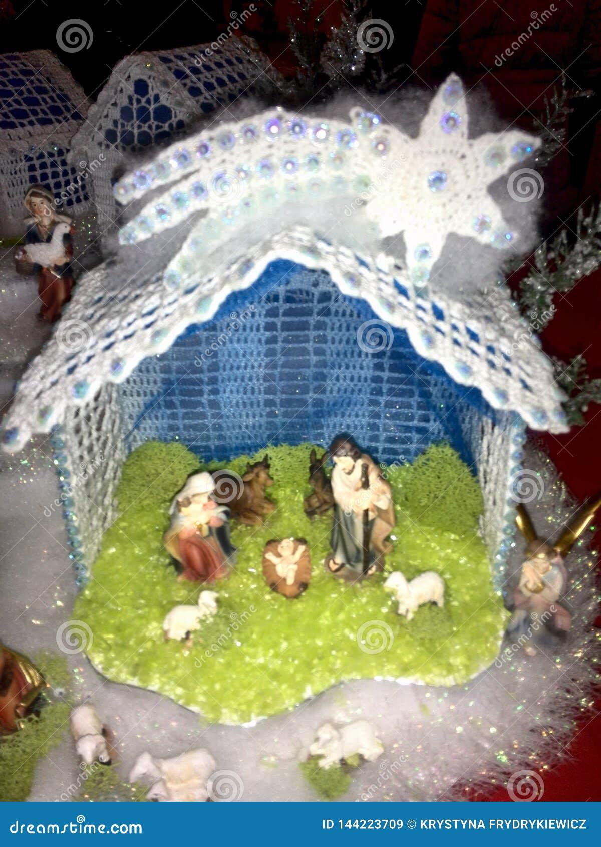 Crochet Christmas nativity