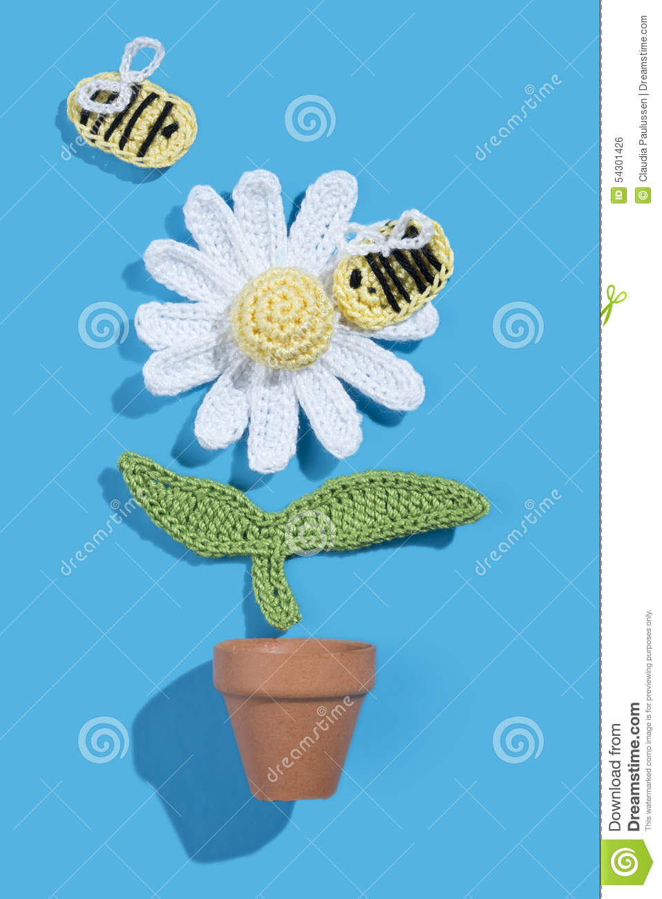 Crochet daisy stock photo image of crochet paper design for Artificial bees for decoration