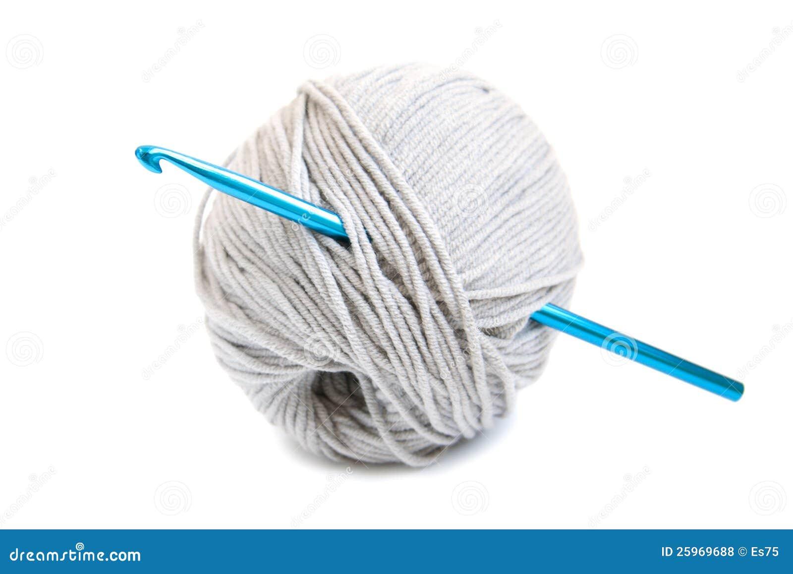 Crochet Hook And Yarn Stock Photo Image Of Hook Wool 25969688