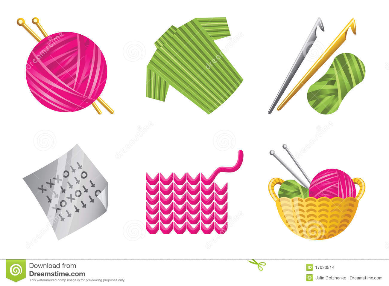 Crochet Icon Set Stock Images Image 17033514