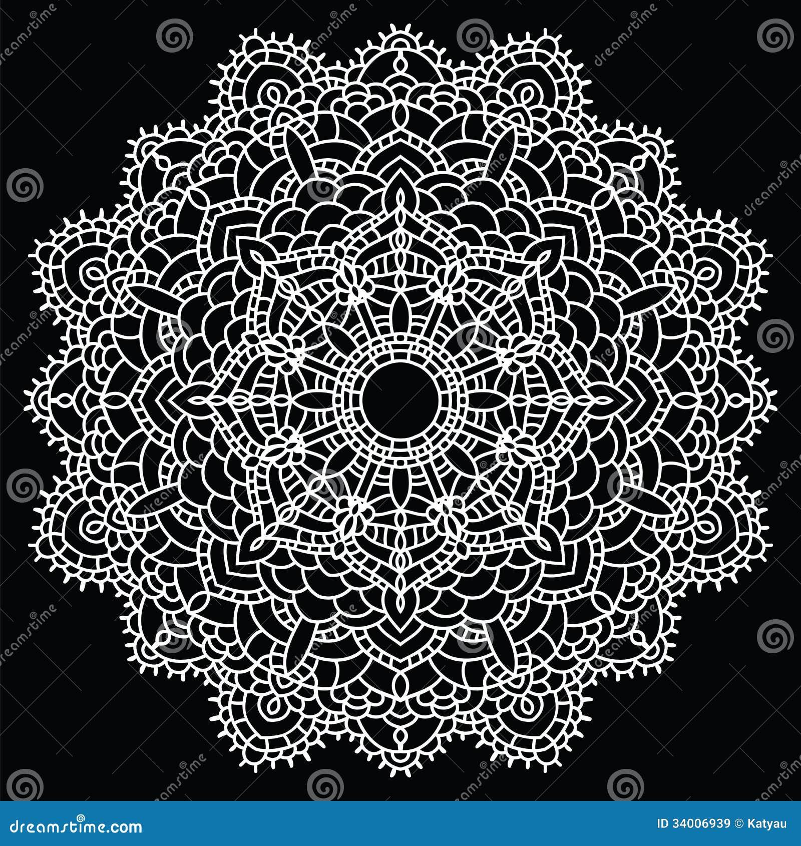 Crochet Lace Mandala Royalty Free Stock Images Image