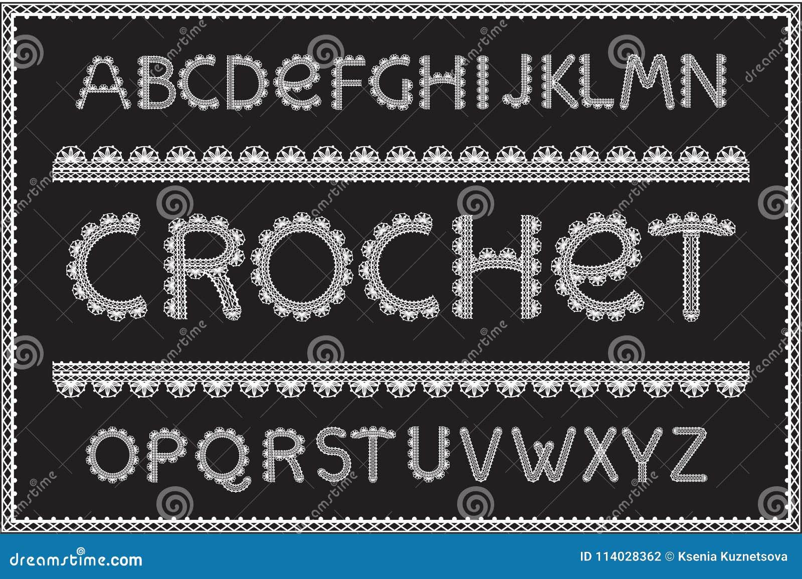 Crochet Letters Set Stock Vector Illustration Of Hobby 114028362