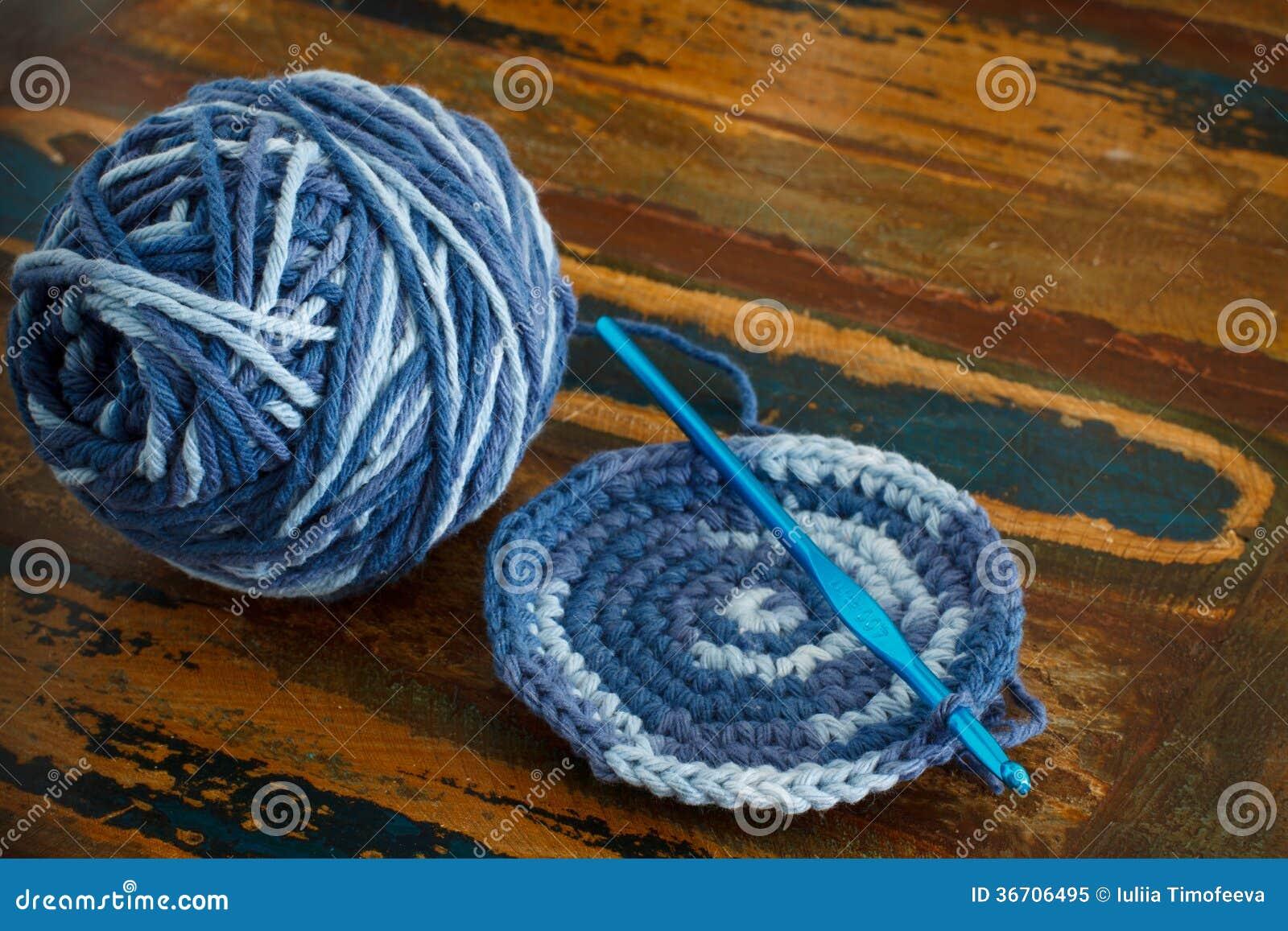 Crochet Potholder Stock Image Image Of Round Decoration 36706495