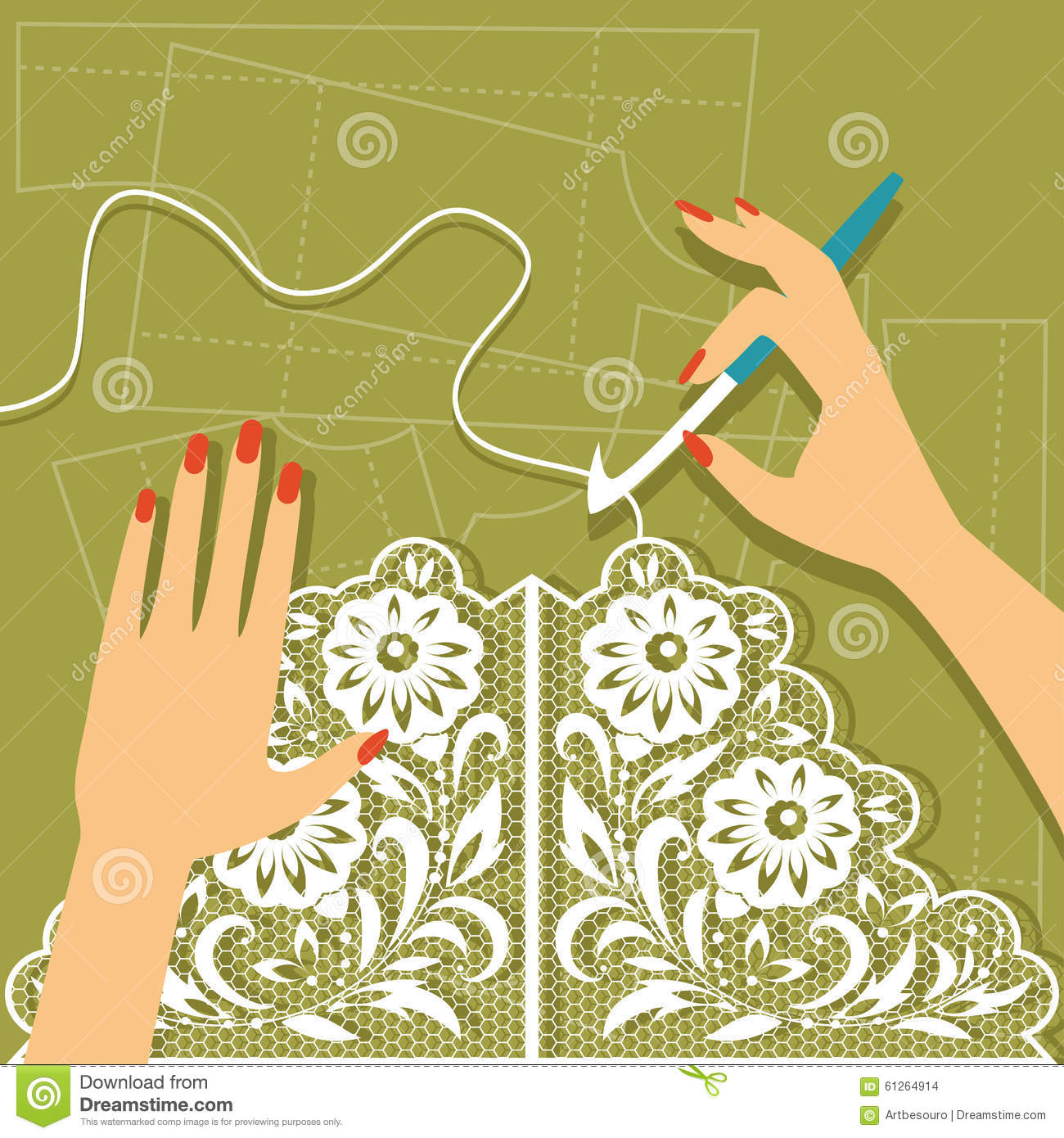 Crocheting Vector : Crochet. Vector Illustration Stock Vector - Image: 61264914