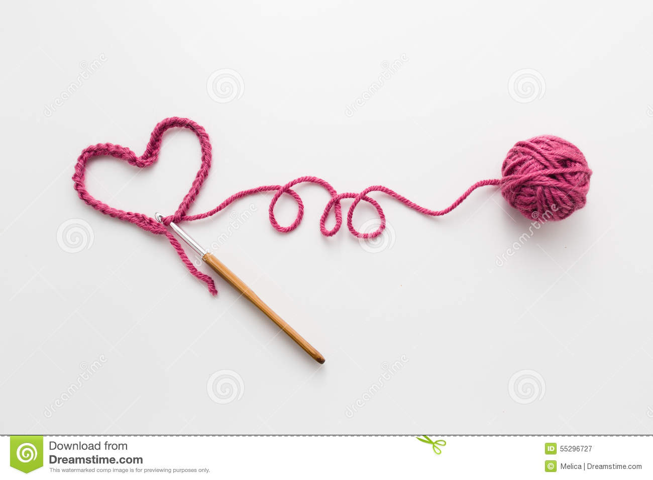 crochet stock image image of fiber homemade decoration 55296727 rh dreamstime com Crochet Border Clip Art Crochet Needle Clip Art