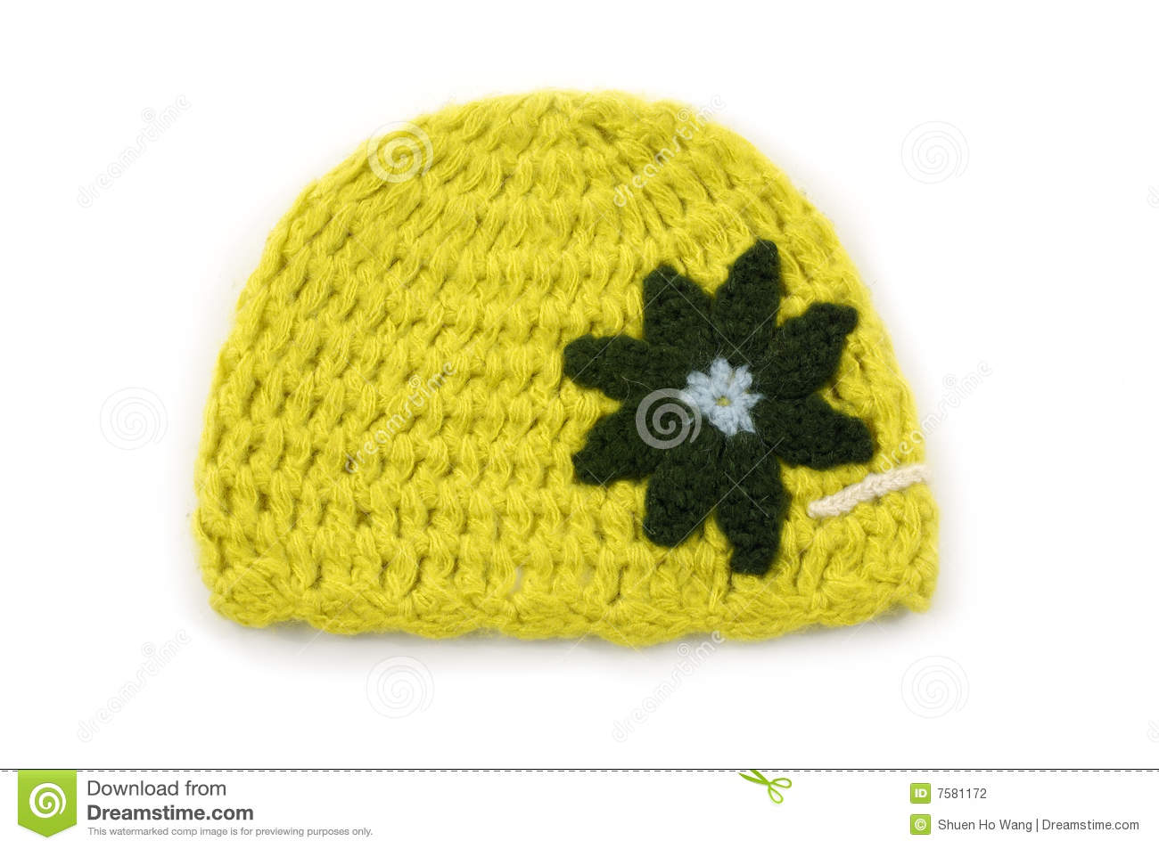 bd7bb5c4 Crocheted hat stock photo. Image of worn, cozy, comfortable - 7581172