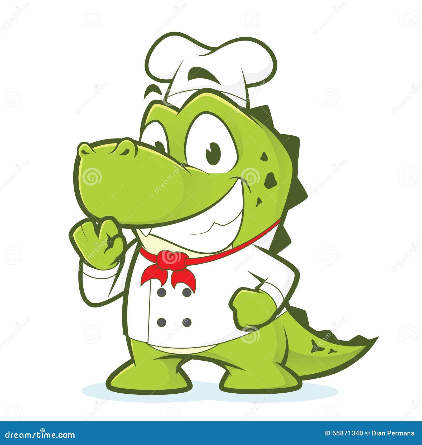 Crocodile or alligator chef stock vector image 65871340 - Crocodile dessin ...