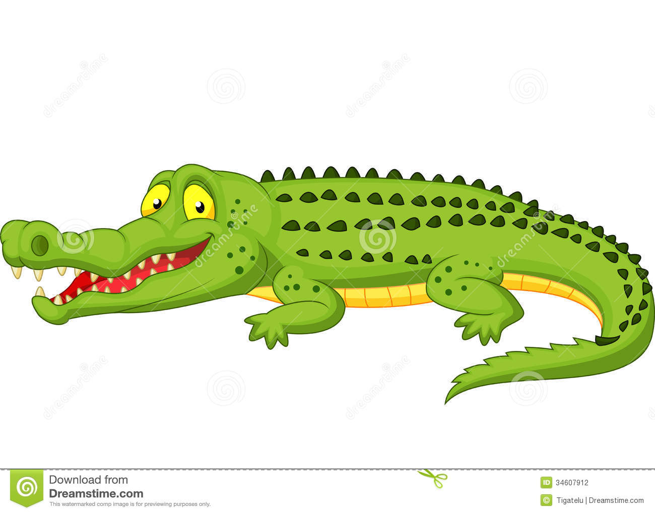 Crocodile Cartoon Stock Photography - Image: 34607912
