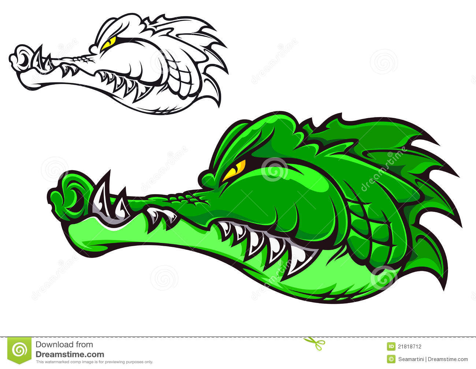 Crocodile de dessin anim photographie stock image 21818712 - Dessin anime les crocodiles ...