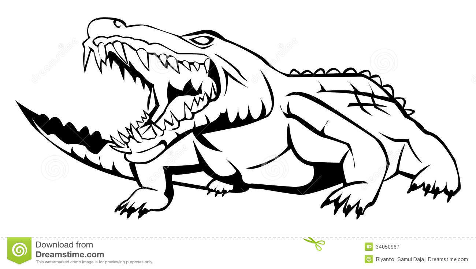 Crocodile stock vector illustration of horror icon for Coccodrillo da colorare