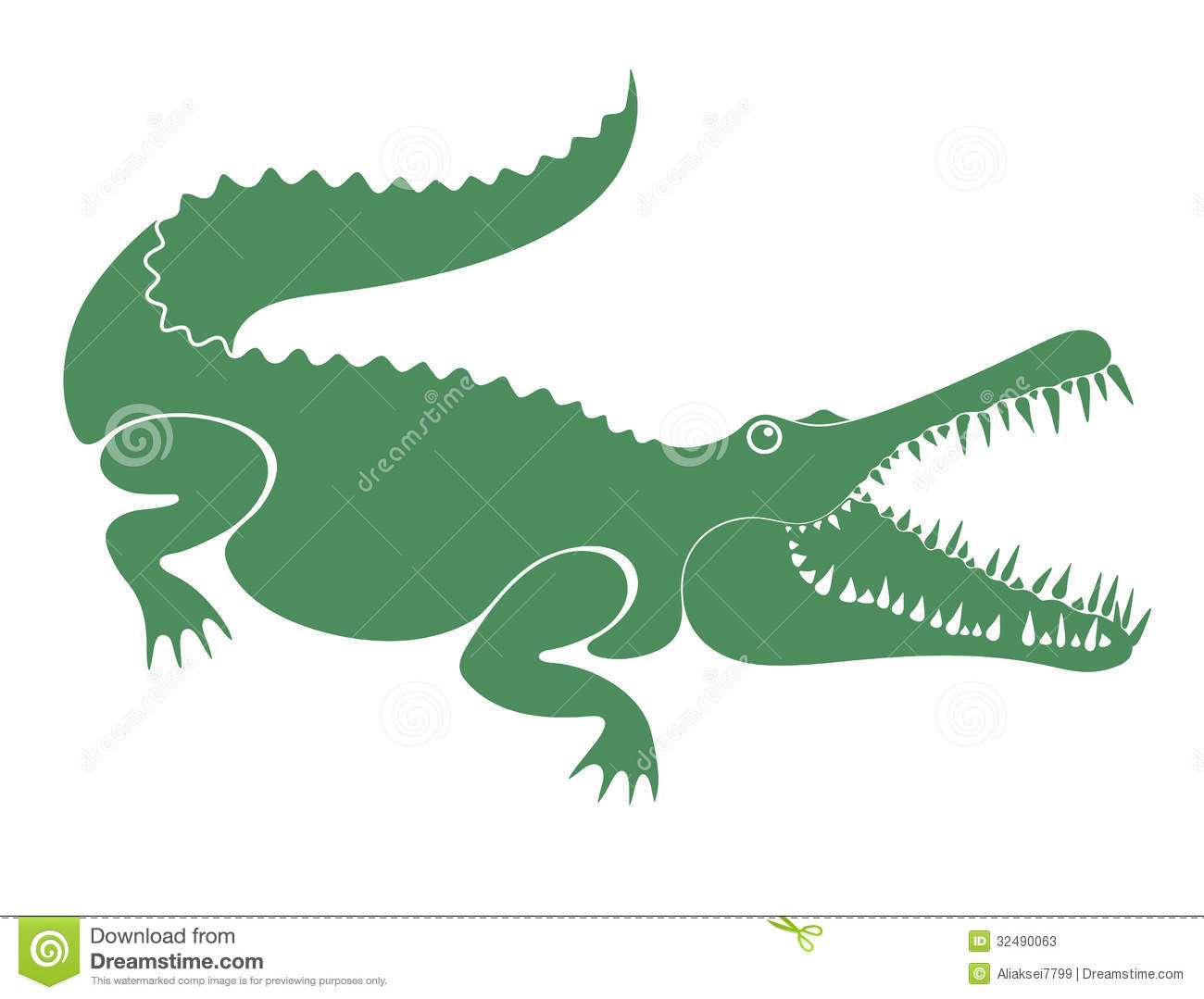 Crocodile Stock Vector Illustration Of Element Animal