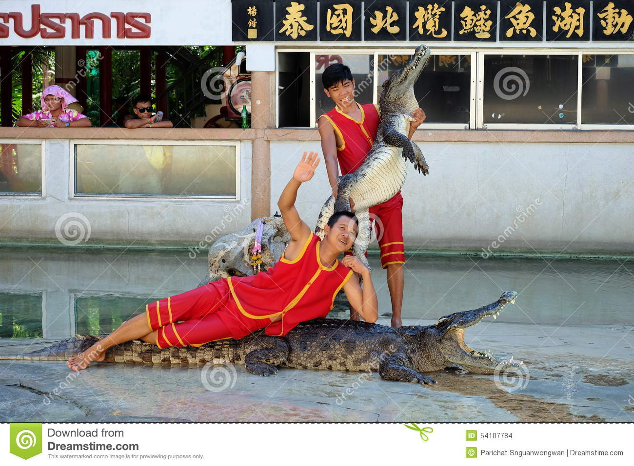 Crocodile Show At Samutprakarn Crocodile Farm And Zoo Editorial Stock Image -...