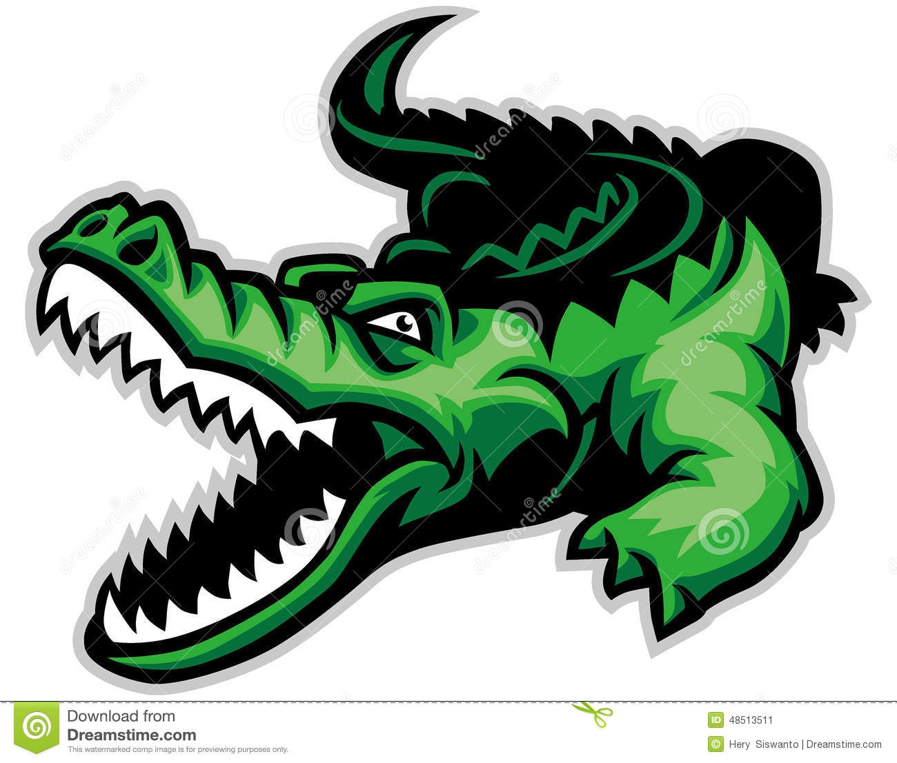 Crocodile Stock Vector - Image: 48513511