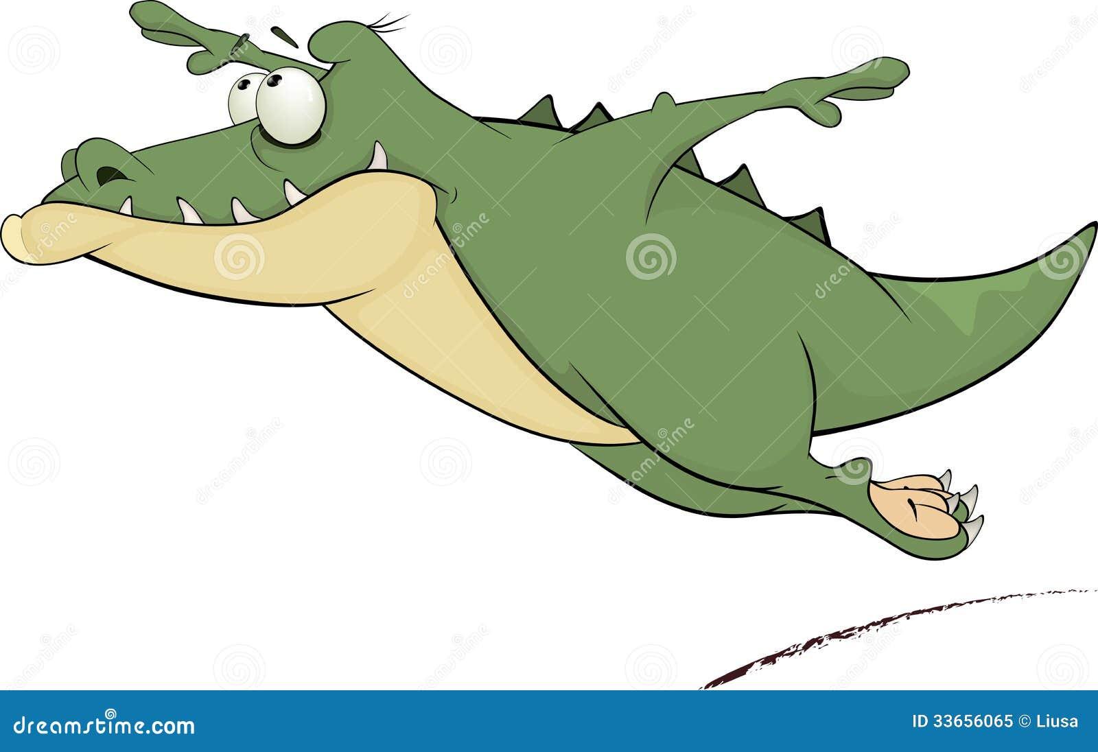 EStupidez dos estupidos com asas dos crocodilos voa baixinho Crocodilo-desenhos-animados-33656065