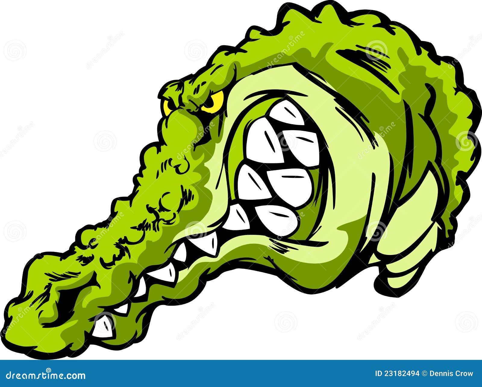 Crocodilo, Gator ou mascote dos desenhos animados do jacaré