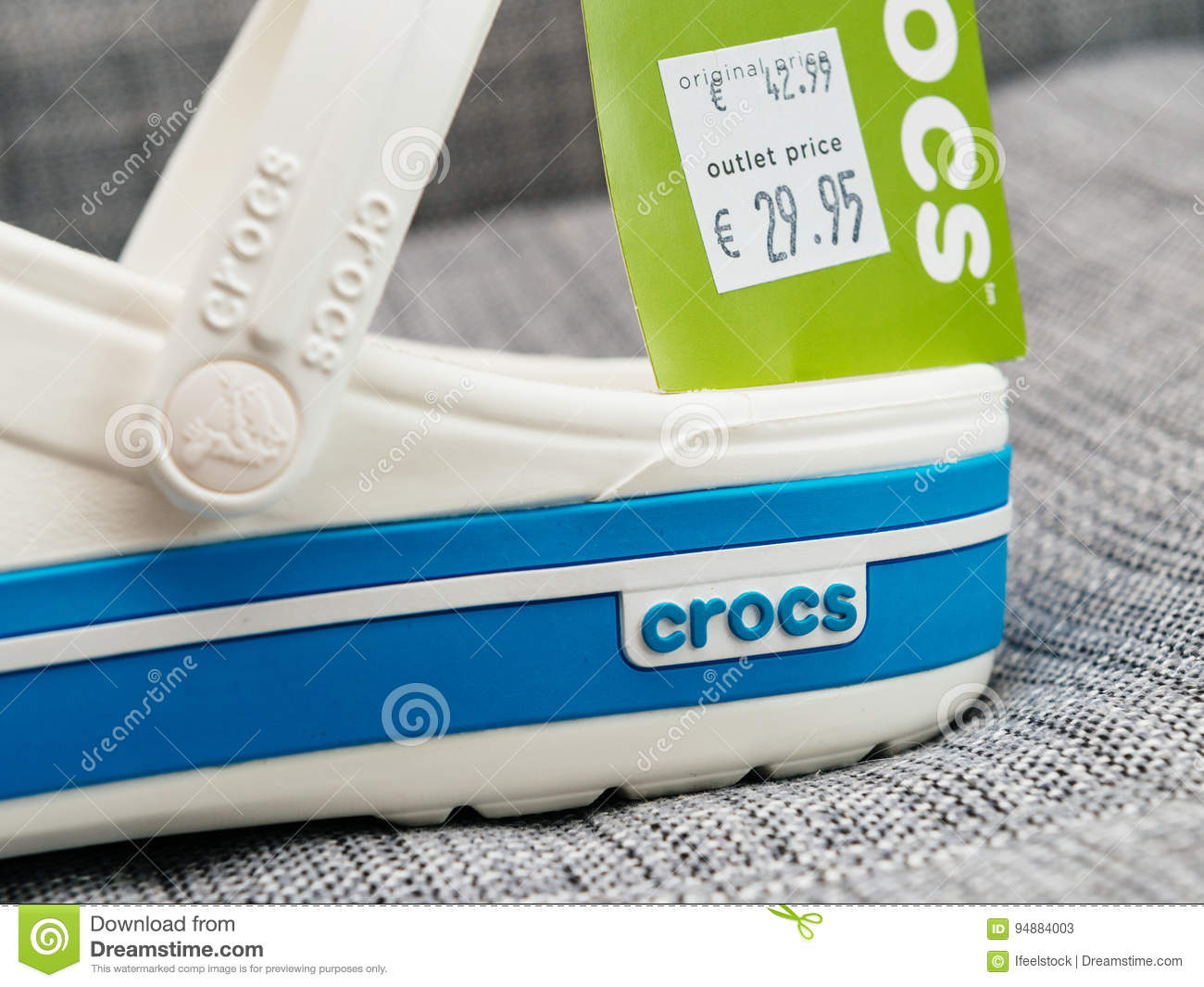 9c5c696dfe7f3 Crocs Clogs Shoes With Regular And Outlet Price Editorial Stock ...