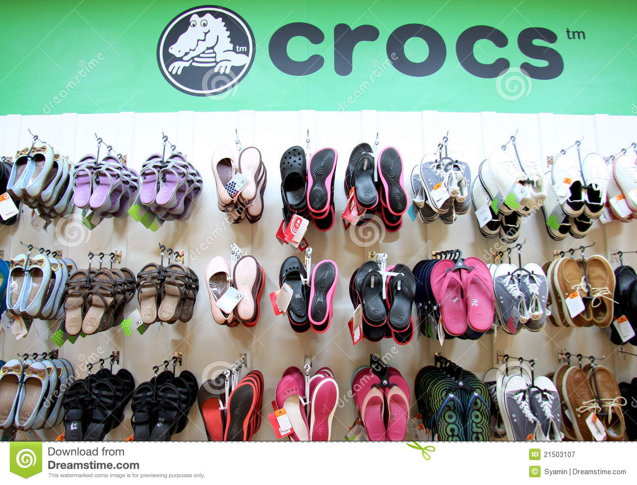 5de5efbedc2b48 Crocs shop displaying its popular product which is mainly casual footwear  of various style and design suitable for all ages. Photo taken in Brunei on  9th ...