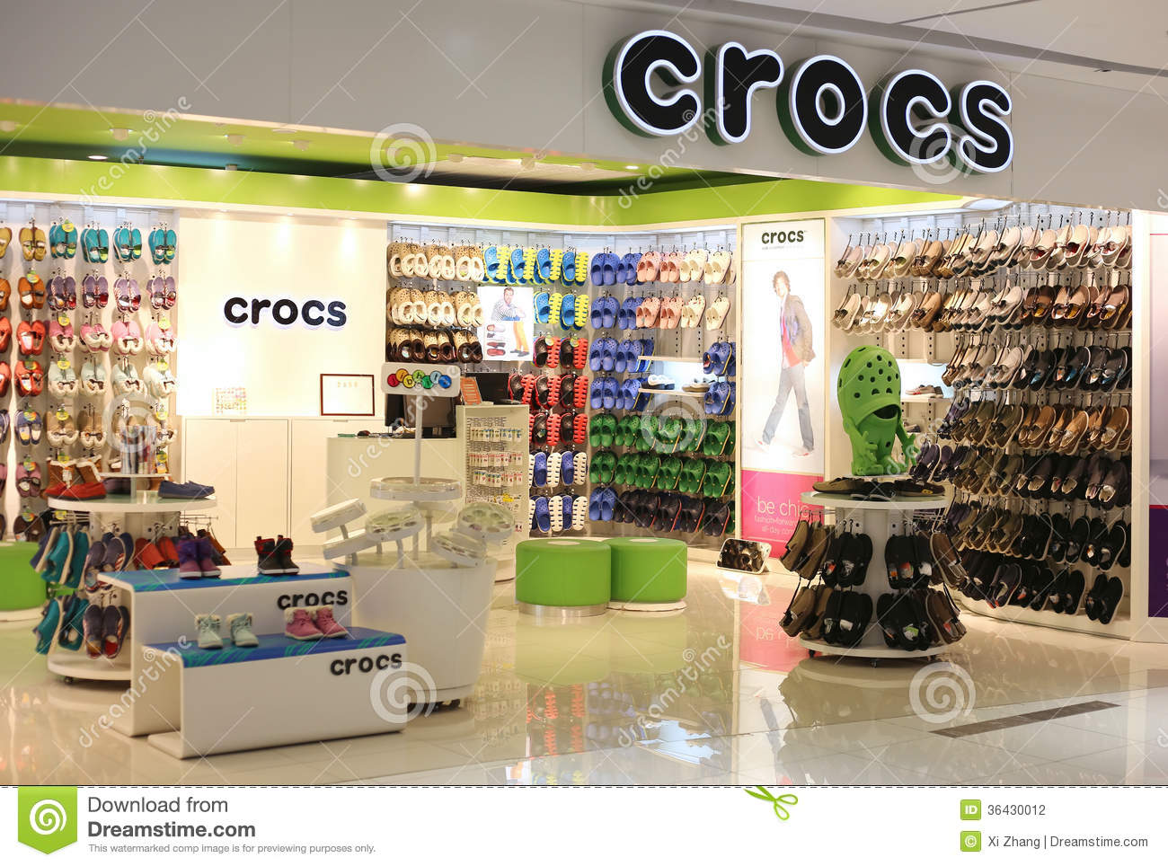 3593e85e49f60f Crocs Store editorial photography. Image of boot