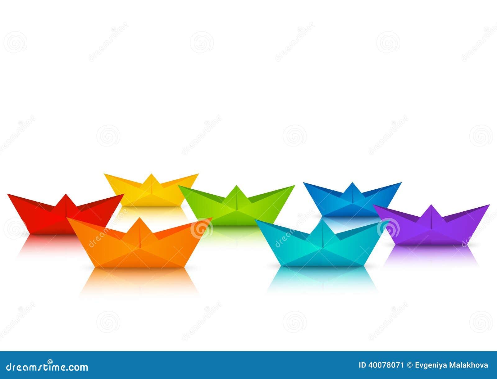 Crogioli di carta di arcobaleno per la vostra progettazione
