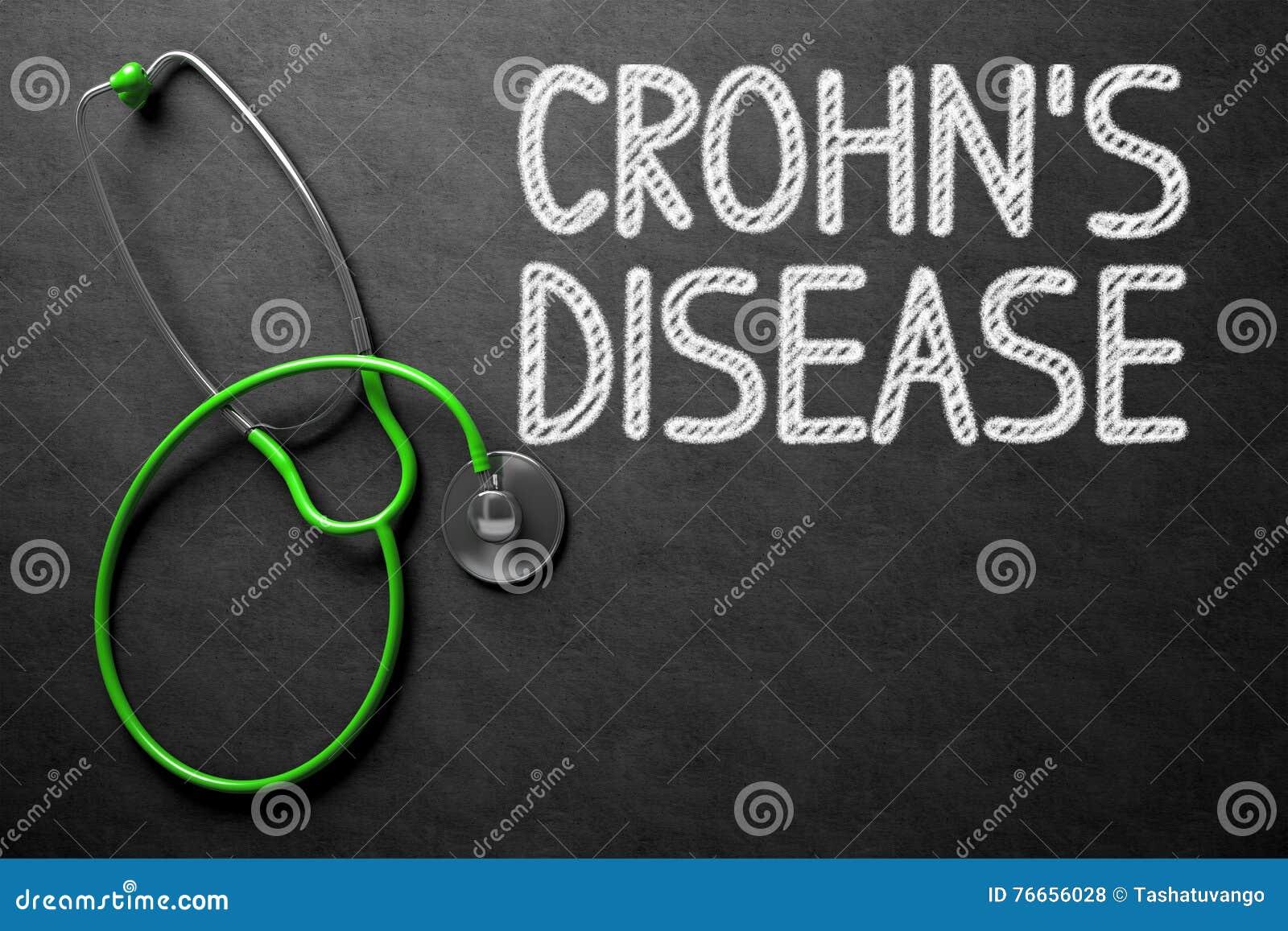 Crohnsziekte - Tekst op Bord 3D Illustratie