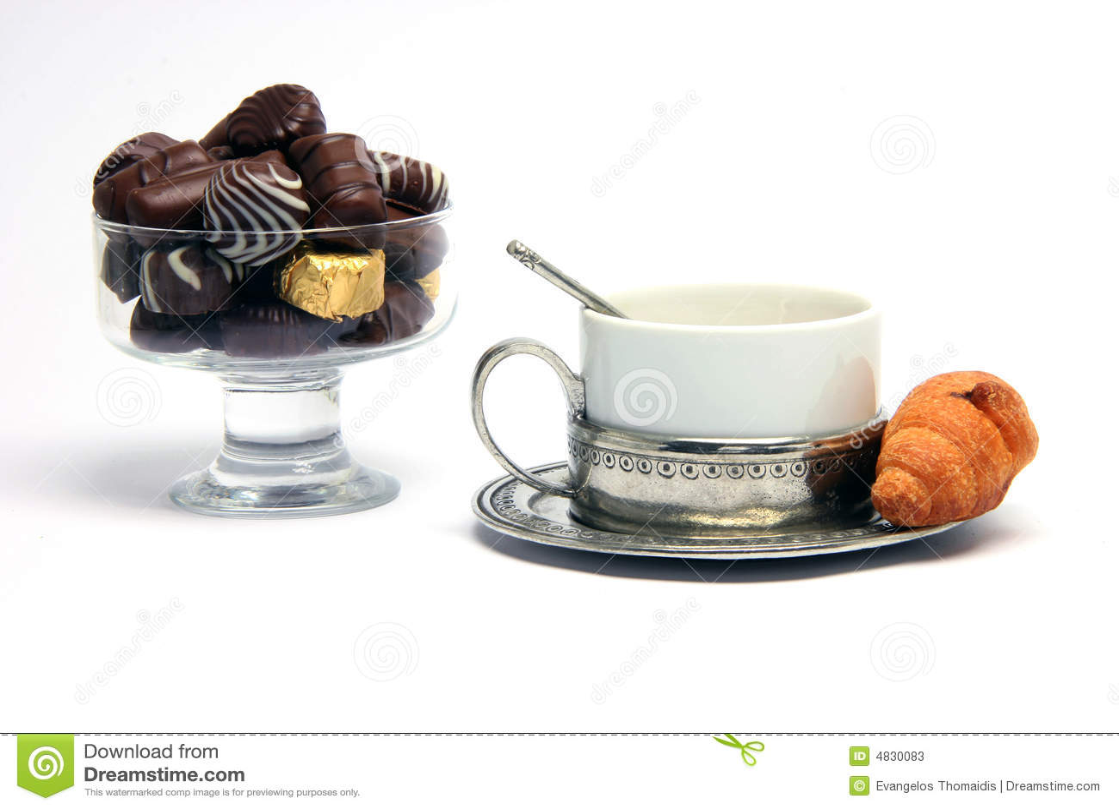 Croisant Schokoladen des Teacup