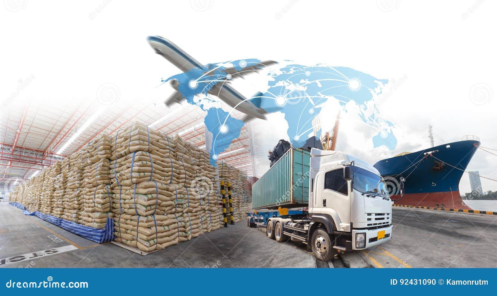 Croissance et progrès d affaires pour des importations-exportations de logistique